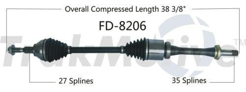For Ford Fusion Lincoln MKZ Front Passenger Right CV Axle Shaft SurTrack FD-8206