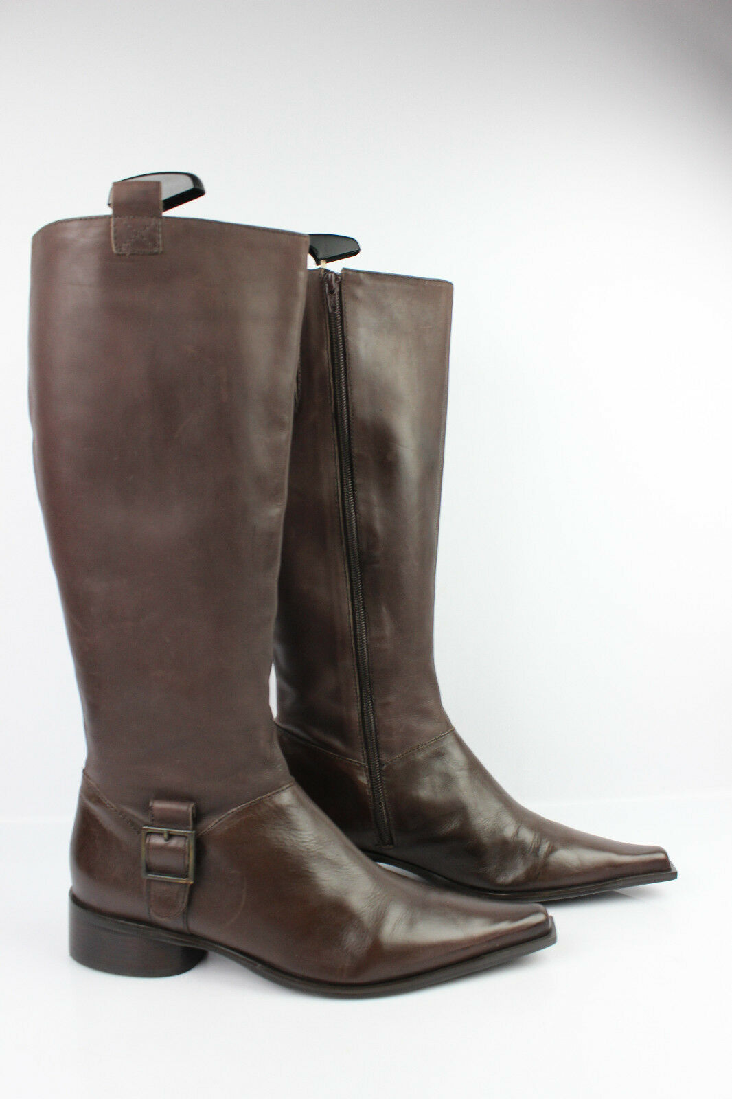Boots Tips Sharp  pointed OPPUS Brown Leather T 40 VERY GOOD CONDITION
