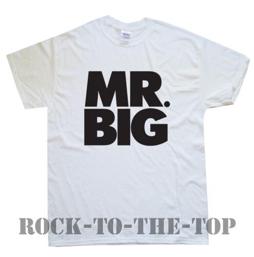 White MR.BIG T-SHIRT sizes S M L XL XXL colours Black