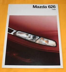 Mazda-626-1994-Prospekt-Stufenheck-Fliessheck-Brochure-Depliant-Prospetto