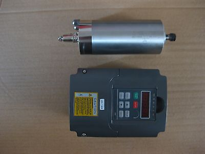 a water-cooled spindle motor 1.5kw with a VFD as a set