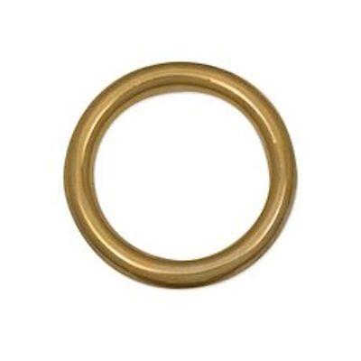 "2/"" I.D Solid Brass O Rings for Belts Tack SCA LARP Medieval Dagohir Ren Faire"