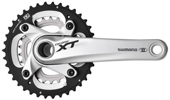 Mountain Bike Crankset >> Shimano Fc M785 Xt 2x10 Speed Mountain Bike Mtb Crankset Silver 26