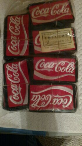 NEW 2 1//2 X 4 1//2 INCH COCA-COLA IRON  OR SEW ON PATCH 25 Patch Bundle