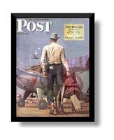 Hobby Frames Magazine Frame Fits Vintage Saturday Evening Post: Black Real Wood