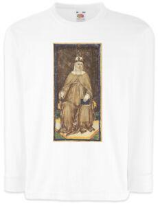 Tarot-Arcanum-Moon-Kinder-Langarm-T-Shirt-Card-Logo-Der-Mond-The-Karte-Karten