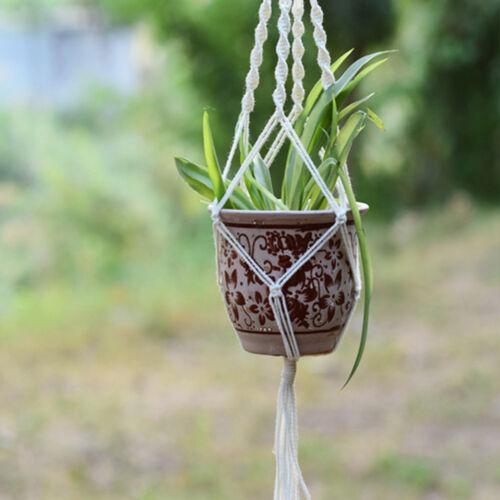 Garden Plant Hanger Macrame Hanging.Planter Basket Rope Flower Pot Holder DeLD