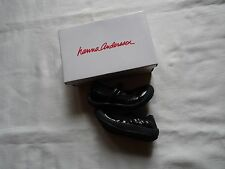 GIRLS HANNA ANDERSSON BLACK PATENT LEATHER SHOES SIZE 8.5