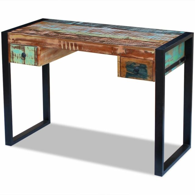 tables for home office. VidaXL Solid Reclaimed Wood Workstation Computer Desk Home Office Table 2 Drawer Tables For U