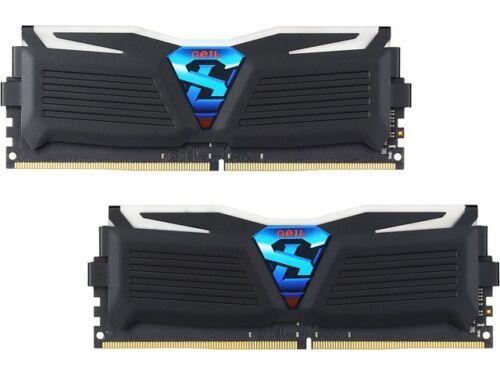 GeIL SUPER LUCE 16GB (2 x 8GB) DDR4 288-Pin DIMM Desktop Memory (Black)