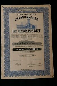 Societe-anonyme-des-Charbonnages-de-BERNISSART-Action