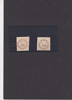 """Bermuda """" Hamilton 1848 """" Replik Siehe Scan QualitäT Und QuantitäT Gesichert Briefmarke"""
