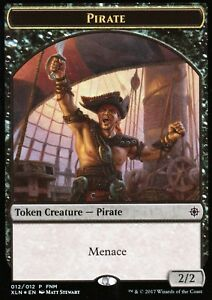Pirate-Treasure-Token-FOIL-flip-card-NM-FNM-Promo-Magic-MTG