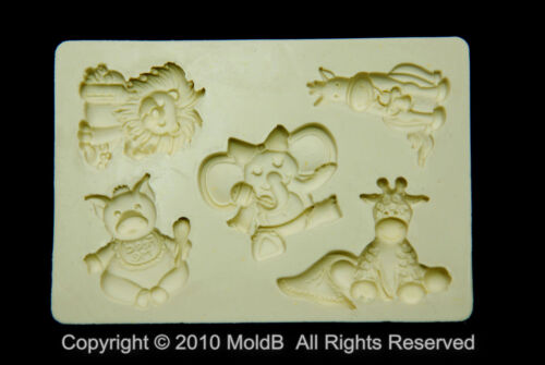 Sugarcraft Molds Silicone Moulds Cupcake Cute Animal#4 Clay,Chocolate,soap
