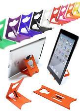 "Apple iPad, Galaxy Tab, 9"" 10"" Tablet Holder ORANGE iClip Folding Travel Stand"