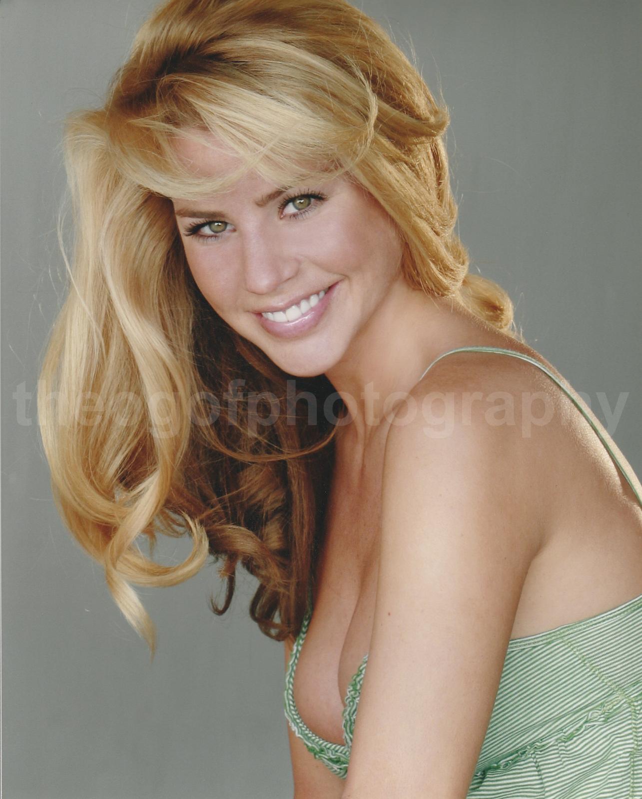 Beautiful Girl Blonde Green Eyes Found Photo 8x10 Free Shipping