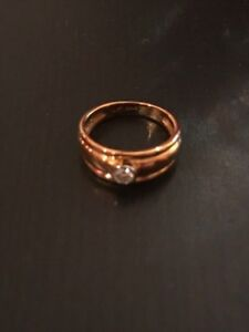 American Swiss Diamond Ring 0 22 Ct Mnvs 18 Carat Gold