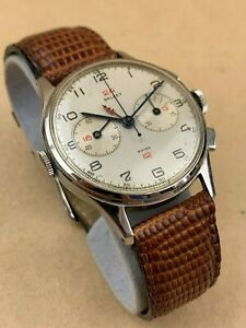 GALLET-MultiChron-Navigator-GMT-Chronograph-Ca-1940-039-s-Very-Rare