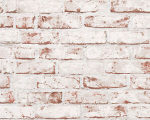 Image Is Loading Realistic Textured Red White Brick Wall Feature Wallpaper