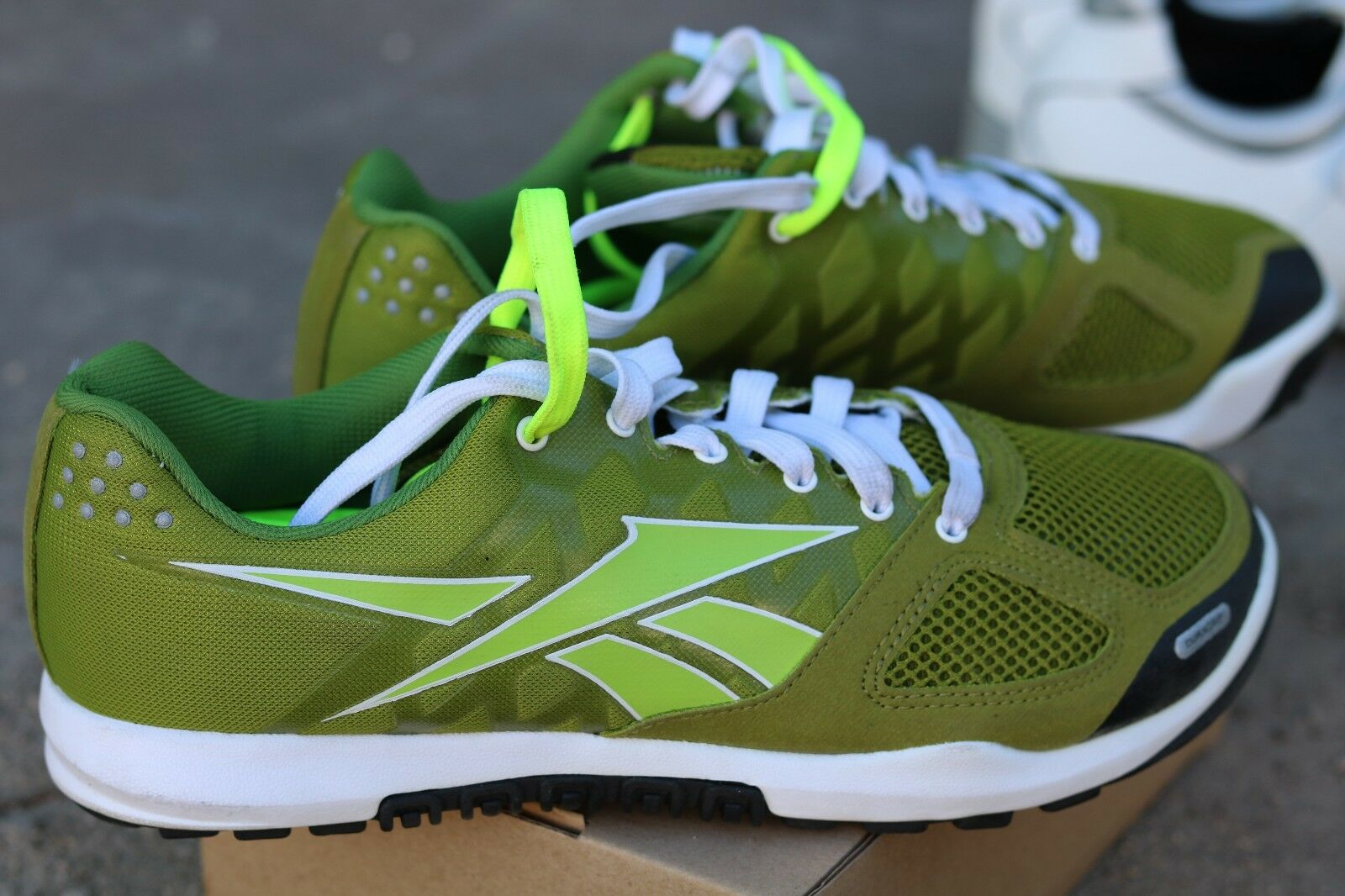 Reebok Nano Crossfit Powerlifting Running Sneakers  Limegreen White 7.5US  hot limited edition