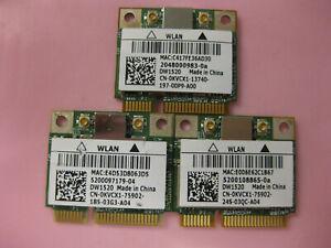 Lot-of-3-Dell-DW1520-KVCX1-dual-band-802-11n-BCM43224-PCIe-Half-BCM943224HMS
