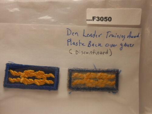 DISCONTINUED KNOT F3050 DEN LEADER TRAINING AWARD PLASTIC BACK OVER GAUZE