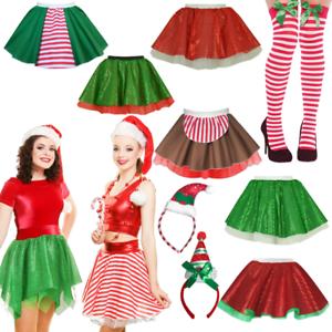 Arbol-De-Navidad-Falda-Traje-Skater-Elf-decoracion-de-la-Sra-Santa-Claus-Dance-Wear