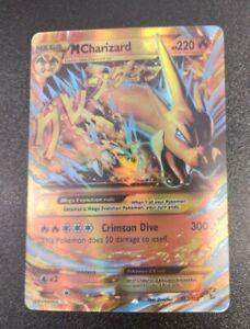SECRET RARE Mega M Charizard EX Pokemon 107/106 XY Flashfire Holo Foil Zard - NM