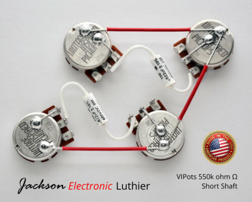Les Paul Wiring Harness 550k Centralab Spec VIP Short Shaft Mallory 150 .022 uF