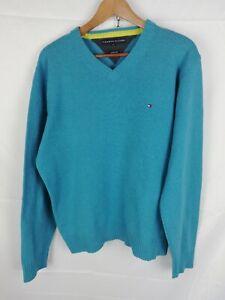 TOMMY-HILFIGER-MAGLIONE-CASUAL-100-LANA-d-039-AGNELLO-Sweater-Pullover-Tg-XL-Uomo