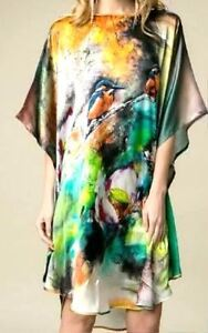 100-Pure-Silk-Shirt-Dress-034-So-Cool-You-Feel-Naked-034-Premium-Silk-034-Little-Birds-039-BR