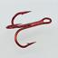 100pcs-Rouge-Hi-Acier-Carbone-peche-hamecons-Aiguises-Treble-Hooks-Tackle-pleine-taille miniature 5