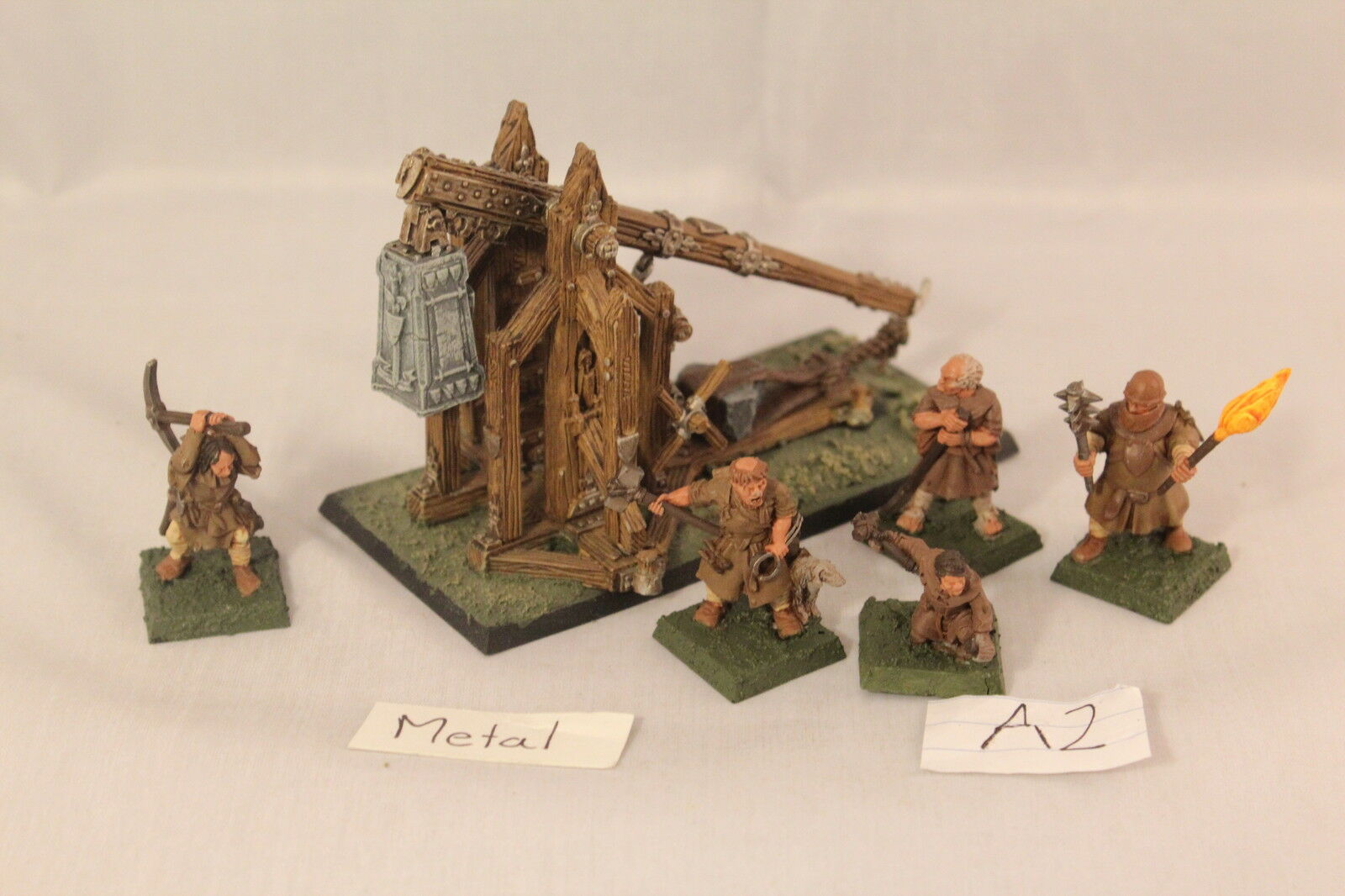Warhammer BRETONNIA Trebuchet bien pintados