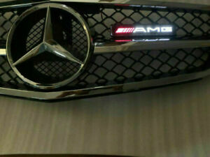 Acryl-AMG-LED-Licht-abzeichen-Illuminated-Decal-gitter-Emblem-fuer-Mercedes-Benz