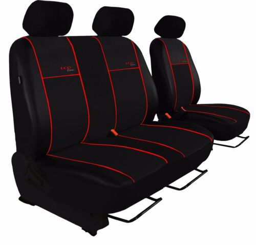 aquí con azul lama . Autobús fundas para asientos para ford 1+2 cuero sintético universal