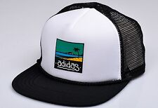 Adidas Originals trucker Cap Heritage baseball hat snap back flat brim mens