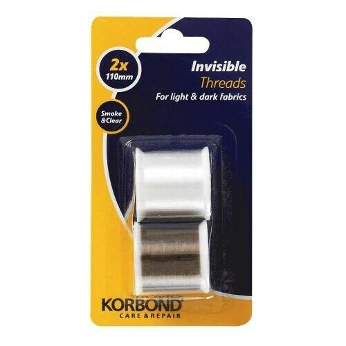 Korbond 2 x 110 m Invisible Threads Clear and Smoke