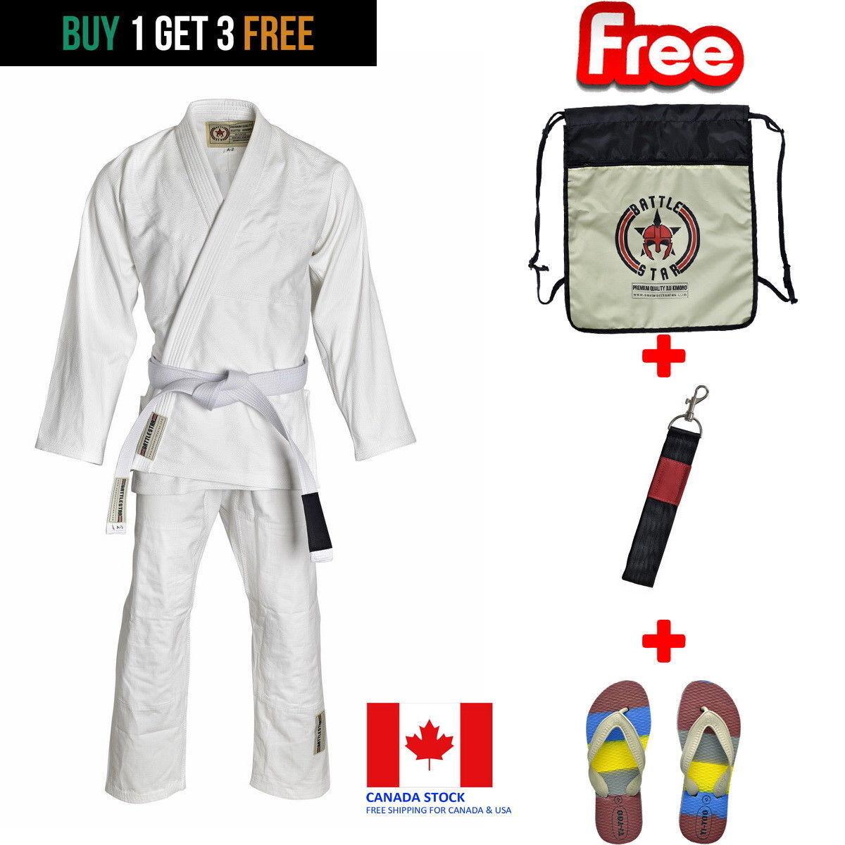 White BJJ Kids Fit GI   350 GSM Pearlweave  Ripstop Brazilian Jiu-jitsu Kimono  considerate service