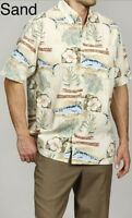 Hook & Tackle Men's Tamarindo Shirt - Sand Color- Small