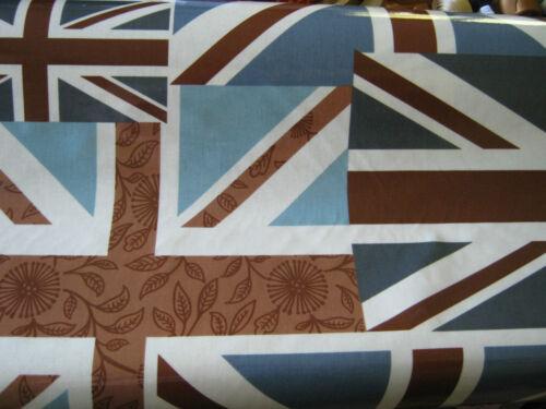 UNION JACK FLAG  PATCHWORK design OILCLOTH PVC coated cotton  132cm wide