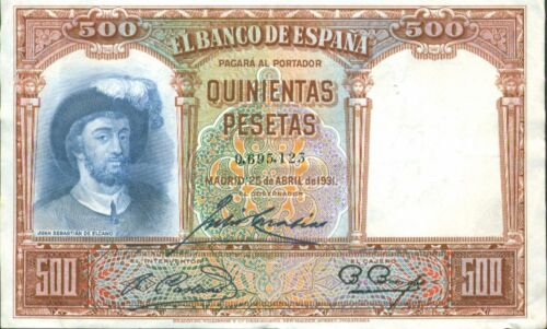 VF CONDITION ELCANO. SPAIN 500 PTAS 1931