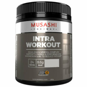 MUSASHI Intra-Workout Blend 350g Supports Energy & Performance BCAA EAA Complex