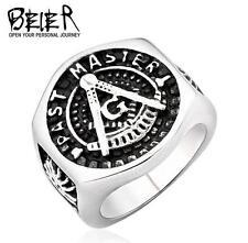 new Man's Titanium steel GENUINE Quality Masonic ring size10