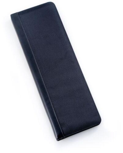 Men/'s Black Ballistic Nylon Travel Necktie Tie Case Holder /& 4 Collar Stays
