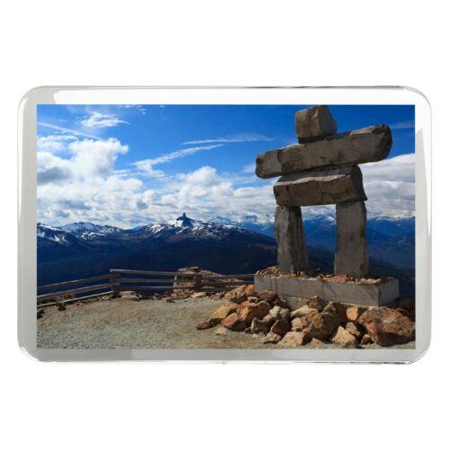 Whistler Mountain Inukshuk Classic Fridge Magnet Travel Nature Fun Gift #12206