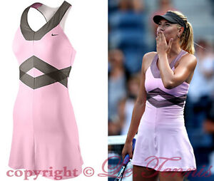 NIKE x MARIA SHARAPOVA Backcourt Day Pink TENNIS DRESS GYM ...
