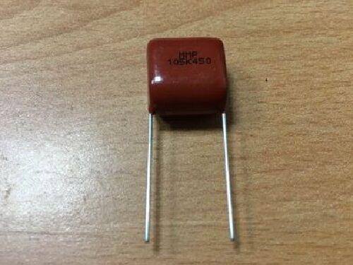 10PCS X Metalized Polyproylene Film Capacitors MMP 1uF 105K 450V 5/% Taiwan