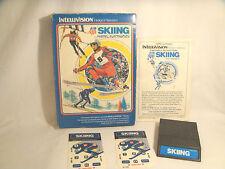 U.S. Ski Team Skiing - Intellivision - Complete W/ controller overlays