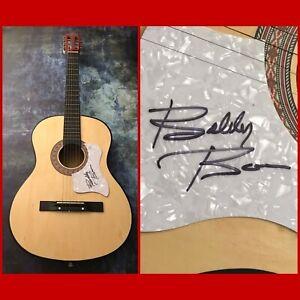 GFA Marie Laveau & Detroit City BOBBY BARE Signed Acoustic Guitar B4 COA