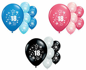 Image Is Loading 8 X 18th BIRTHDAY BALLOONS 12 034 HELIUM